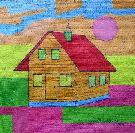 Obraz olejny: Lucyna Pawlak (Lu) - Bajkowy domek