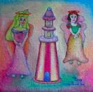 Obraz olejny: Lucyna Pawlak (Lu) - Księżniczki