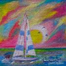 Obraz olejny: Lucyna Pawlak (Lu) - Śmiało pod wiatr 8