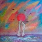 Obraz olejny: Lucyna Pawlak (Lu) - Śmiało pod wiatr 9
